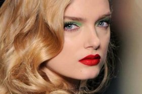 red lips dior